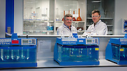 7/5/15<br /> Tom Brennan and Patsy Carney pictured at EirGen Pharma in Waterford.<br /> Picture Dylan Vaughan.