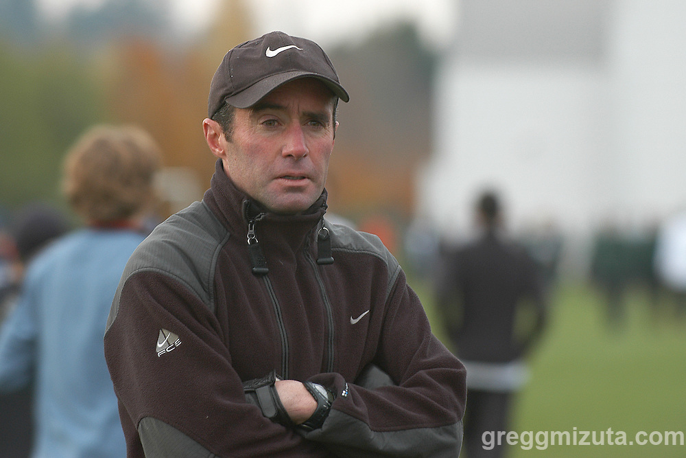 Alberto Salazar before the start of Border Clash V at the Nike World Headquarters Campus in Beaverton, Oregon on November 23, 2003.