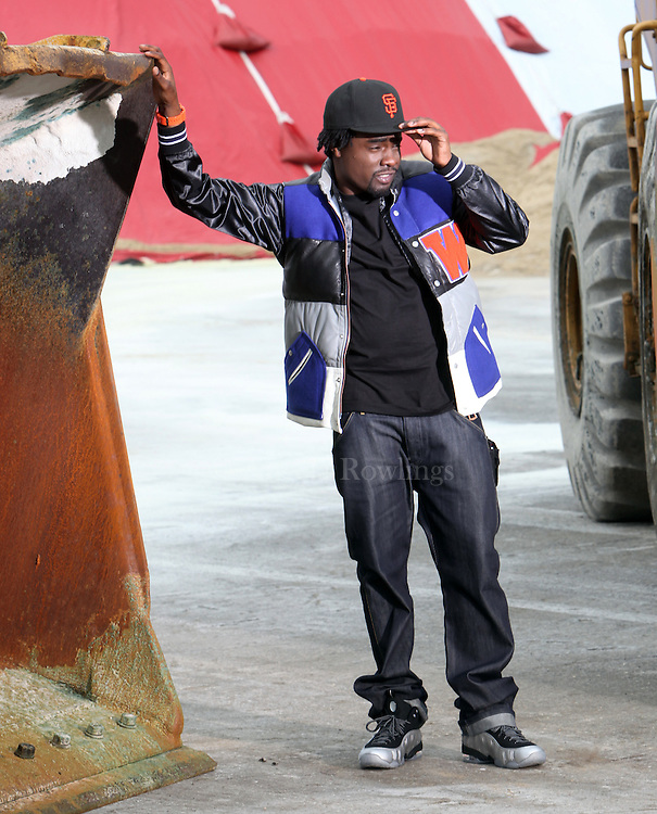 (050409  Chelsea, MA) Rapper Wale appears on the set of a video at the Eastern Salt Company in Chelsea, Monday,  May 04, 2009.  Staff photo by Angela Rowlings.