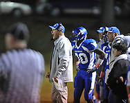 Water Valley coach Brad Embry vs. Mantachie in high school football action in Water Valley, Miss. on Friday, October 26, 2012.