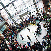 Community members along with Gonzaga alumni, students and staff take part in Spokane's Martin Luther King Jr. Day celebrations. (Photo by Rajah Bose)
