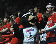 "Rebel the Mascot at Ole Miss vs. Georgia at the C.M. ""Tad"" Smith Coliseum on Saturday, February 16, 2013. (AP Photo/Oxford Eagle, Bruce Newman)"
