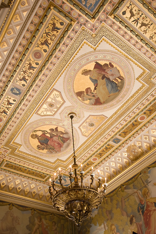 Slug: Society of the Cinncinnati<br /> Date: 08-2007<br /> Photographer: Mark Finkenstaedt <br /> Location:   2118 Massachusetts Avenue, NW<br /> Washington, DC  20008<br /> Caption:  The Society of the Cincinnati - Anderson House newly restored ceiling<br /> <br /> &copy; 2007 Mark Finkenstaedt. All Rights Reserved. For the use of The Society of the Cincinnati - Anderson House for their marketing, website and brochures.