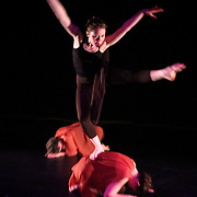 """Karin Stevens Dance performing """"Furies of Love"""" with the Starry Night Chamber Orchestra at The Black Box Theatre at Edmonds Community College."""