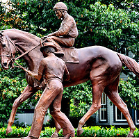 Secretariat Sculpture at Kentucky Horse Park by Edwin Bogucki in Lexington, Kentucky<br />