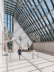 Sculpture Hall at the Modern Art Museum MUDAM Musee d'Art Moderne Grand Duc Jean  Luxembourg
