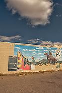 Historic Route 66, Tucumcari, New Mexico, mural, 1956 Dodge, cowboy