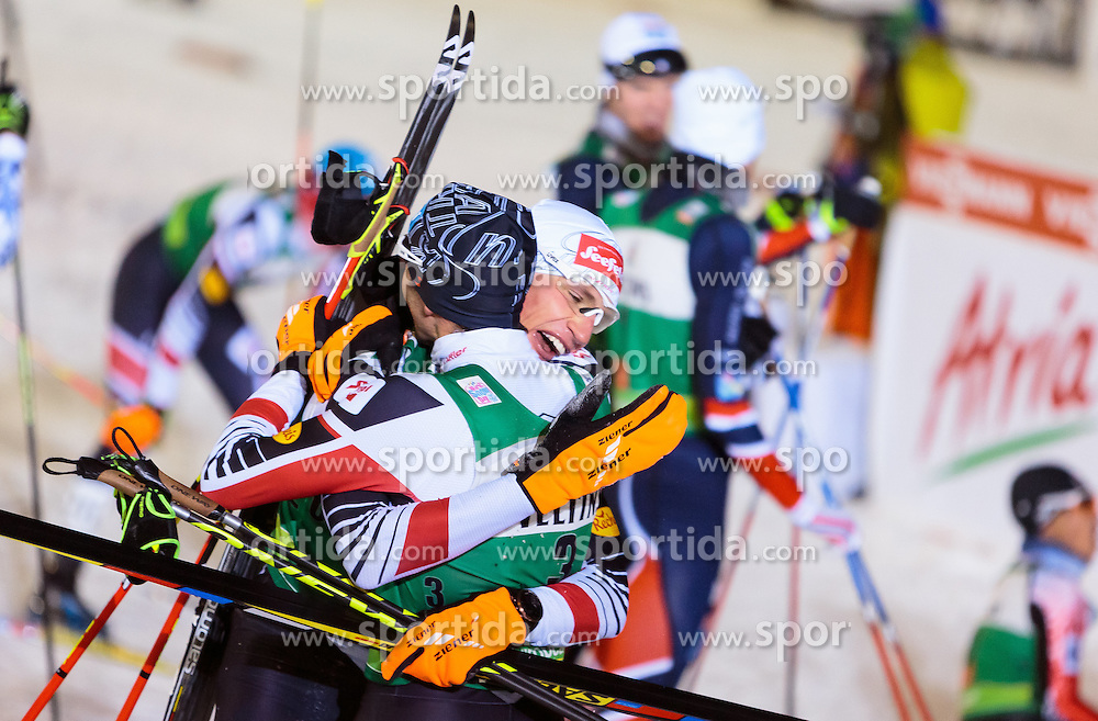 27.11.2016, Nordic Arena, Ruka, FIN, FIS Weltcup Nordische Kombination, Nordic Opening, Kuusamo, Langlauf, im Bild Wilhelm Denifl (AUT), David Pommer (AUT) // Wilhelm Denifl of Austria, David Pommer of Austria during Cross Country of the FIS Nordic Combined World Cup of the Nordic Opening at the Nordic Arena in Ruka, Finland on 2016/11/27. EXPA Pictures © 2016, PhotoCredit: EXPA/ JFK
