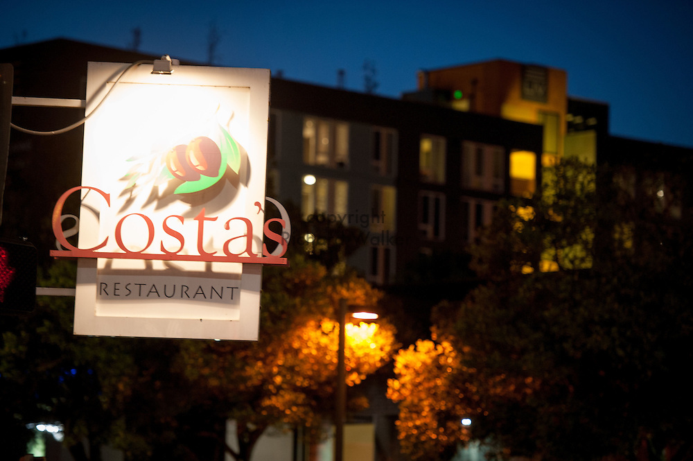 2016 October 10 - Costa's Restaurant sign in the University District, Seattle, WA, USA. By Richard Walker