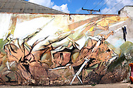 Revolutionary mural in La Maya, Guantanamo, Cuba.