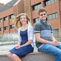 APSU physics student Chris Hayes and APSU mathematics student Kristen Knight were both named 2013 Goldwater Scholarship winners. (Beth Liggett, APSU)