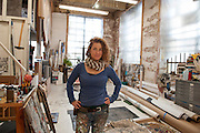 The artist SWOON in her studio in Red Hook, Brooklyn.<br /> <br /> Brooklyn Artists October 2015<br /> <br /> &copy; Stefan Falke<br /> stefanfalke@mac.com<br /> www.stefanfalke.com