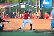 Mississippi's Errol Robinson (6) bats against Louisiana-Lafayette in an NCAA Super Regional game in Lafayette, La. on Saturday, June 7, 2014.    Louisiana-Lafayette won 9-5.