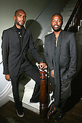 l to r: Antoine Phillips and Edward Buchanan at The VIBE Magazine & Memsor Kamarake and Beverly Smith Salute to Black Men In Fashion ? NY Fashion Week Fall ?08 held Norwood on September 11, 2008