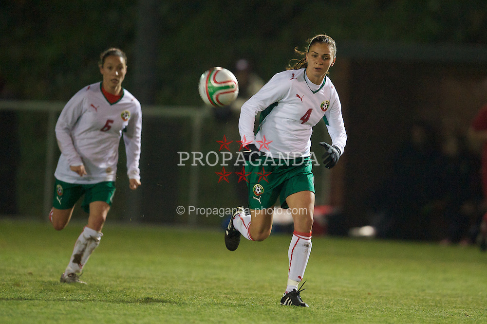 WREXHAM, WALES - Wednesday, November 24, 2010: Bulgaria's Stanislava Tsekova (FC NSA) in action against Wales during the International Friendly match at the Rock. (Photo by David Rawcliffe/Propaganda)