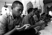 Friday prayer in the Tsunami devastated city of Banda Aceh. January 7 2005.