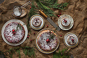Was so inspired by the loosely woven burlap and how these cranberry tarts looked together for a holiday shoot. My friend makes these for her clients every year and before she wrapped them up I styled each with some greenery and cranberries, making them look perfectly festive and rustic for the holidays.