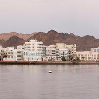 Panorama view of Muscat, Oman, Arabian Peninsula