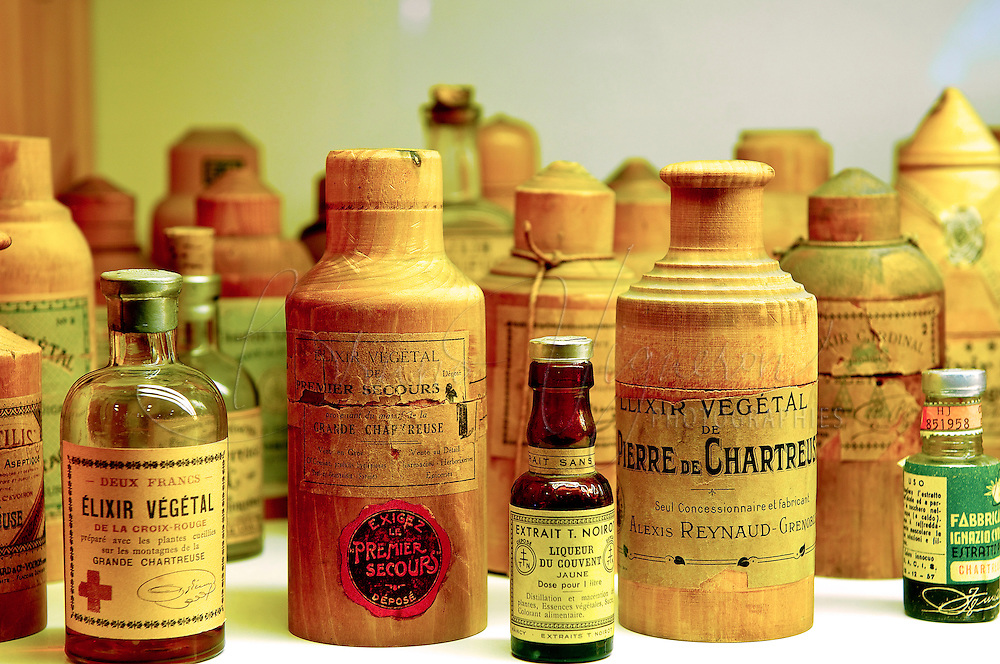 VOIRON, FRANCE :&quot;Elixir of Long Life&quot;<br /> The Order of Chartreuse was more than 500 years old when, in 1605, at a Chartreuse monastery in Vauvert, a small suburb of Paris, the monks received a gift from a Marshal of King's Henri IV artillery : an already ancient manuscript from an &quot;Elixir&quot; soon to be nicknamed &quot;Elixir of Long Life&quot;<br /> Todays, this beverage still prepared by two Carthusian Brothers entrusted with this mission by their Order. They work in the greatest secrecy and are the only ones who know the details of manufacturing. Even today the formula remains a mystery which modern investigation methods have not been able to penetrate.