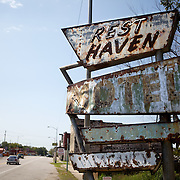 Rest Haven Hotel-Afton, Oklahoma..A September 2011 Route 66 trip, section 2,  from Joplin, Missouri to San Jon, New Mexico.