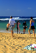 Image of Poipu Beach Park at Poipu, Kauai, Hawaii.