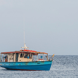 Seychellois Commercial Fishing Vessel, D'Arros Island and St Joseph Atoll, Amirantees, Seychelles,