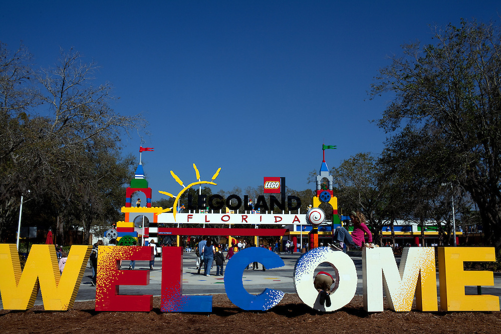The new theme park Legoland in Whitehaven, Florida on February 11, 2012.