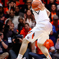 CHAMPAIGN, IL - JANUARY 05: Tyler Griffey #42 of the Illinois Fighting Illini tries to keep control of the ball against the Ohio State Buckeyes at Assembly Hall on January 5, 2013 in Champaign, Illinois. Ilinois defeated Ohio State 74-55. (Photo by Michael Hickey/Getty Images) *** Local Caption *** Tyler Griffey