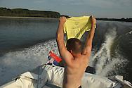 LSA member Tim Proto, holding a Liberland t shirt