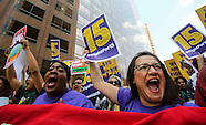Protest call for a nationwide $15-an-hour minimum wage