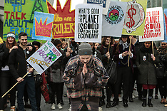MAR 19 2014 Vivienne Westwood marches agains CEO of IGas
