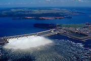Brazil, Para State. Tucurui dam on Tocantins River in Amazon region.