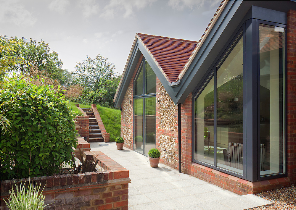 residential extension with pitched roof in hertfordshire