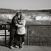 Couple at Cohoes Falls.