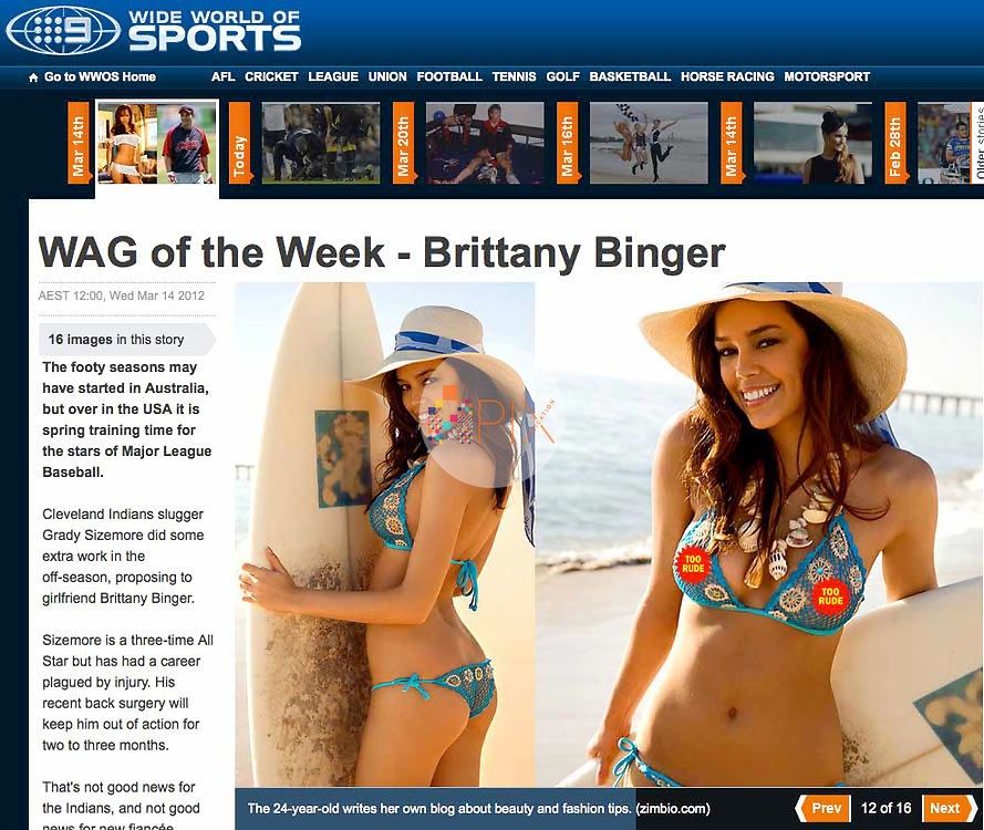 Beautiful Brittany Binger is featured online by WIDE WORLD OF SPORTS Australia. <br /> <br /> Images from our shoot of Brittany Binger, available for worldwide use with approval: http://www.apixsyndication.com/gallery/Brittany-Binger/G0000XEiUfBTLSX4/C0000bpjmyLWLtnE