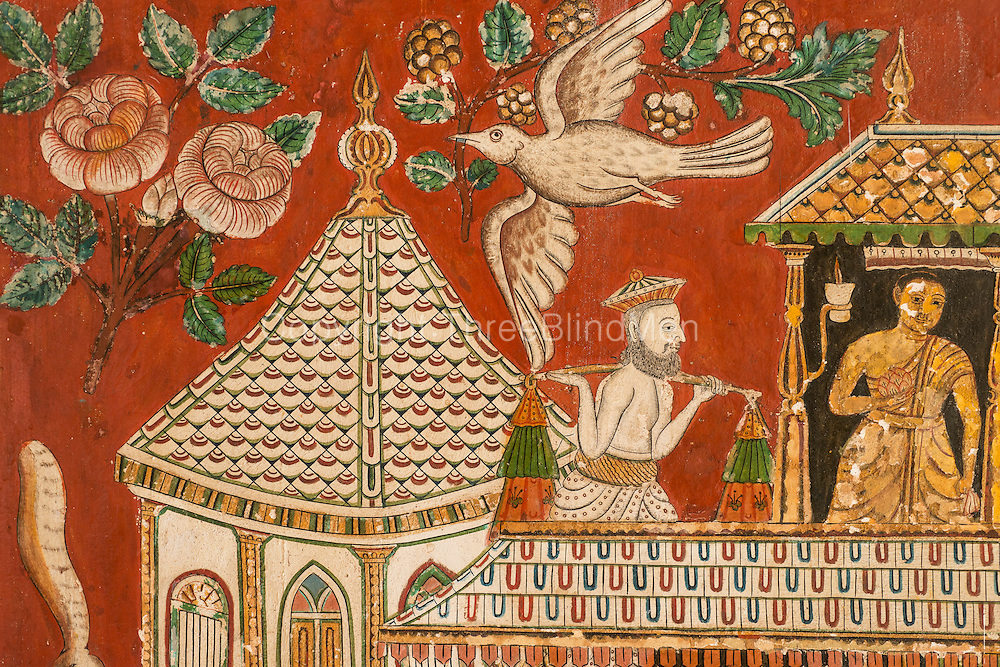 Shailabimbarama Buddhist Temple. Dodanduwa. The wall of this temple have some of the finest examples of temple mural painting.<br />