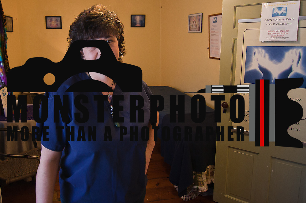 01/19/12 Historic New Castle DE: Patty Boyle of The Healing Room offers Massage, Readings, Numerology, Energy work Spiritual Counseling at Penn's Place photograph taken Thursday, Jan. 19, 2012 in Historic New Castle Delaware...Special to The News Journal/SAQUAN STIMPSON
