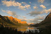 St. Mary Lake and Wild Goose Island just after sunrise; Glacier National Park, Montana..#05062894