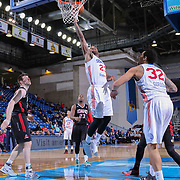 Delaware 87ers Forward Victor Rudd (23) drives towards the basket in the second half of a NBA D-league regular season basketball game between the Delaware 87ers and the Idaho Stampede (Utah Jazz) Tuesday, Feb. 03, 2015 at The Bob Carpenter Sports Convocation Center in Newark, DEL