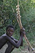Africa, Tanzania, Lake Eyasi, Hadza men on a hunting expedition Small tribe of hunter gatherers AKA Hadzabe April 2007