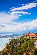 Hills and cliffs of Taormina, Sicily, Italy