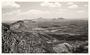 Stirling Ranges overlook, monochrome
