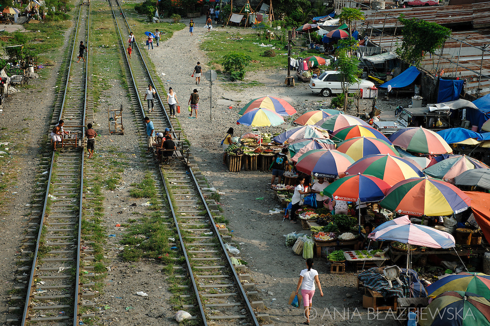 Philippines, Metro Manila. Small market near railway station in Bicutan.