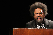 "April 18, 2012- New York, NY : Dr. Cornel West, professor of religion and African-American studies at Princeton University attends the Tavis Smiley and Cornel West Talk and Booksigning of their co-authored new book ' The Rich & the Rest of Us: A Poverty Manifesto ' presented by Dr. Brenda Greene and the National Black Writers Conference held at the Slyvia and Danny Kaye Playhouse at Hunter College (CUNY) on April 20, 2012 in New York City. ..The latest census data shows nearly one in two Americans, or 150 million people, have fallen into poverty  or could be classified as low income. Dr. Cornel West and Tavis Smiley, who continue their efforts to spark a national dialog on the poverty crisis with the new book, ""The Rich and the Rest of Us: A Poverty Manifesto."" (Photo by Terrence Jennings).."