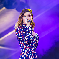 LAS VEGAS - SEP 19 : Musician Sydney Sierota of Echosmith performs onstage at the 2015 iHeartRadio Music Festival at the Las Vegas Village on September 19, 2015 in Las Vegas, Nevada.