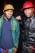l to r: Mos Def and Talib Kweli at The Black Star Concert presented by BlackSmith and Live N Direct held at The Nokia Theater in New York City on May 30, 2009