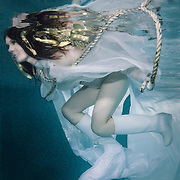 Underwater portrait of Karen. Gold make up and gold strips in her hair courtesy of Gillian Elizabeth Make-up artist.