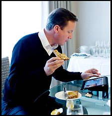 The Prime Minister David Cameron during the 2010 Election