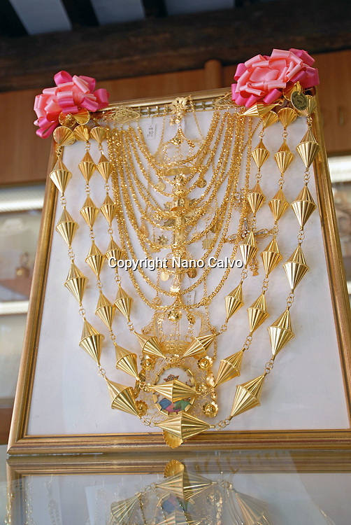 Traditional ibizan jewels, for typical dancing