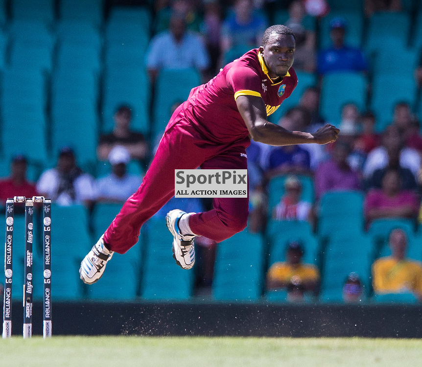 ICC Cricket World Cup 2015 Tournament Match, South Africa v West Indies, Sydney Cricket Ground; 27th February 2015<br /> West Indies Jerome Taylor
